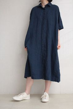 CASEY CASEY <br>LINEN DRESS NAVY - Other Brand,ONE-PIECE - Veritecoeur(ヴェリテクール)