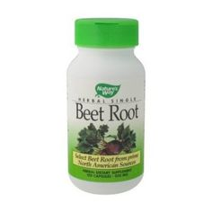 Nature's Way Beet Root Powder Capsules 500 mg, 100-Count.  (Pinner: I'm using for better bile flow.)