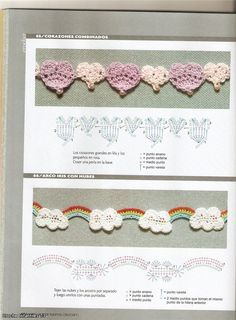 crochet more appliques - crafts ideas - crafts for kids