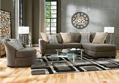 picture of Meridian Springs Charcoal 5 Pc Sectional Living Room  from Sectionals Furniture. I would want this $988.00
