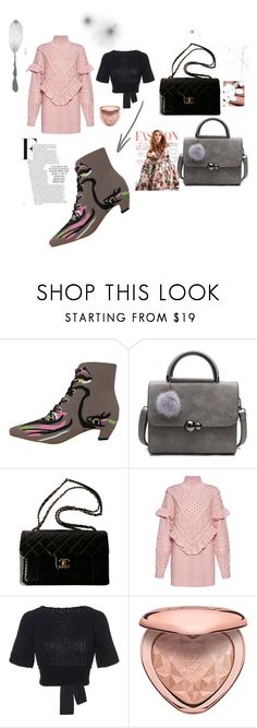 """Pink Panther Look"" by sugarpuddinboutique on Polyvore featuring Chanel, Mother of Pearl, RED Valentino and Too Faced Cosmetics"