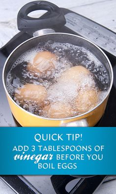 Boiling Eggs? Use this quick tip!