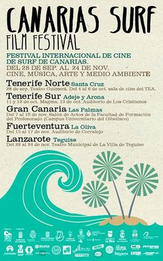 The Canaries Surf Film Festival focuses on several nights with screenings of feature films, photography exhibitions, musical performances,& special guests. Tenerife, Arona, Photography Exhibition, Special Guest, Feature Film, Travel Posters, Film Festival, Surfing, Events