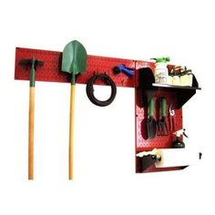 Garden Tools Organizer Holder Garage Storage Hanger Board Wall Mount System Kit