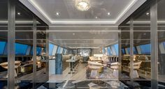 RC58 ceiling mount. Mangusta yacht in Italy