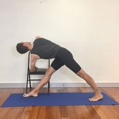 This is a great variation of revolved triangle. One of the 12 yoga poses for easing osteoporosis, osteopenia. Build those bones with this dynamic pose! LOVE it! Yoga with Gail, Nederland, Texas