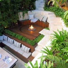 10 Grand Tricks: Modern Garden Ideas To Get small backyard garden suits.Garden Ideas Vegetable Articles garden ideas on a budget dollar stores. Modern Deck, Backyard Patio Designs, Modern Backyard Design, Backyard Layout, Back Gardens, Landscape Design, Outdoor Living, Outdoor Fire, Outdoor Spaces
