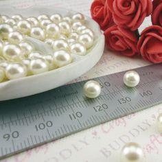 Buddly Crafts No Hole Pearls - 100pcs 7mm Ivory P23