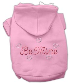 Mirage Pet Products Be Mine Rhinestone Dog Hoodie. A soft poly-cotton sleeved hoodie sweatshirt for your pet to make their fashion statement. Double stitched in all the right places for comfort and durability! $15.98
