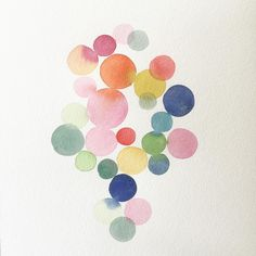 Colored dots for a grey Friday Watercolor Ideas, Watercolour, Spiegel Design, Colorful Wall Art, Color Splash, Abstract Art, Dots, Friday, Kids Rugs
