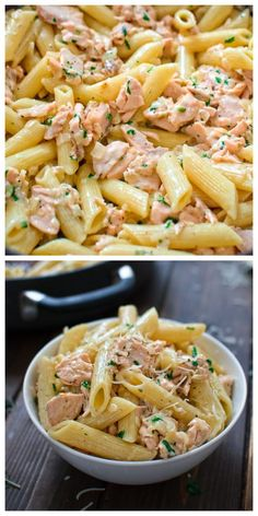 Easy Salmon Pasta This simple and elegant One Pot Creamy Salmon Pasta makes a quick and filling dinner that your family will love! Visit Cooktoria and make this scrumptious salmon dinner today! One Pot Creamy Salmon Pasta makes a quick and filling dinner! Yummy Recipes, Easy Dinner Recipes, Easy Meals, Cooking Recipes, Healthy Recipes, Diet Recipes, Simple Pasta Recipes, Pasta Recipes Video, Healthy Food