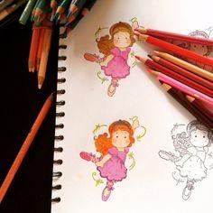 Tilda bailarina con prismacolors