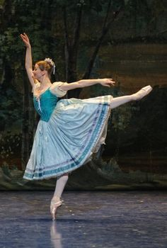 Evgenia Obraztsova as Giselle in Act 1. Photo by Marc Haegeman