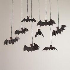 Meri Meri Eek! Bag of Bats Halloween Hanging Decor at Cost Plus World Market >> #WorldMarket Halloween #HalloweenDecor #HalloweenEntertaining