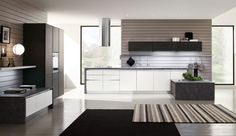 Contemporary solid wood / stone kitchen - ESSENZA - Arrex