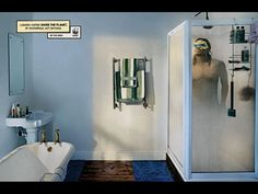 Print Lungisa Madike for WWF by Ogilvy & Mather Cape Town - Lungisa Madike saves the planet by showering,not bathing Advertising, Ads, Bathroom Medicine Cabinet, Planets, Storage, Home Decor, Ogilvy Mather, Water Pollution, Hero 3