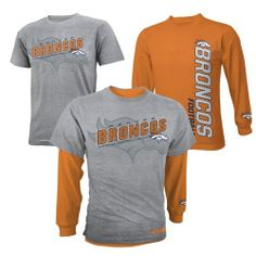 Denver #Broncos Youth Option Combo T-Shirt. Click to order! - $29.99