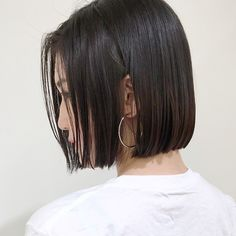 Pin on ヘアー Short Bob Haircuts, Straight Hairstyles, Cool Hairstyles, Cabello Hair, Edgy Hair, Haircut And Color, Asian Hair, Hair Designs, Short Hair Cuts
