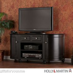 Holly & Martin Sawyer TV/Media Stand - Black