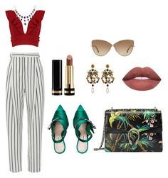 A fashion look from March 2018 featuring off the shoulder crop top, stripe pants and high heeled footwear. Browse and shop related looks. Tom Ford, Boohoo, Gucci, Shoe Bag, Polyvore, Stuff To Buy, Shopping, Collection, Design