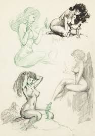Sketches by Frank Frazetta Comic Book Artists, Comic Artist, Art Sketches, Art Drawings, Frank Frazetta, Figure Sketching, Bd Comics, Fantasy Pictures, Illustrations