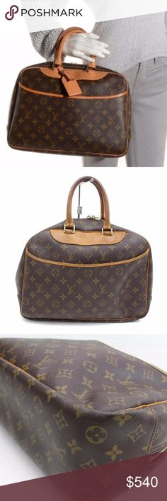 Authentic Louis Vuitton Hand Bag Deauville Browns Preloved in good vintage  condition. Exterior there are 509a64388cd15