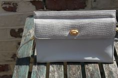 White Mock Crocodile Bag by Jane Shilton, England True Vintage. British Fashion, British Style, Glasgow School Of Art, Vintage Wardrobe, Classic House, Crocodile, Label, England, Touch