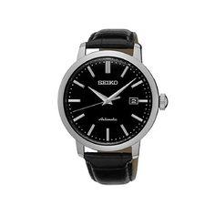 Ανδρικό ρολόι SEIKO SRPA27K1 Automatic με μαύρο καντράν, αυτόματο μηχανισμό, ημερομηνία και μαύρο κροκό λουρί   ΤΣΑΛΔΑΡΗΣ στο Χαλάνδρι #seiko #automatic #μαυρο #λουρι #tsaldaris Seiko Automatic, Bracelet Cuir, Seiko Watches, Classic, Date, Accessories, Products, Gift, Automatic Watch