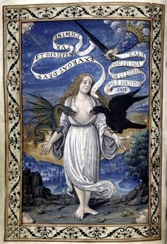 Breve trattato delle affittioni d'italia et del confitto di Roma con pronosticatione (1525-1550) Italy, personified as a woman, is torn at the breasts, but is protected by the hand of the King of France
