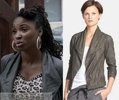 Shameless: Season 6 Episode 2 Veronica's Grey Leather Jacket