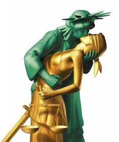 Lady Liberty <3 + <3 Justice