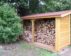 Amazing Outdoor Firewood Rack and Storage Ideas Outdoor Firewood Rack, Firewood Holder, Firewood Storage, Indoor Outdoor, Outdoor Living, Wood Shed, Building A House, Pergola, Architecture