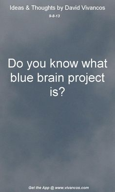 September 8th 2013 Idea,  http://bluebrain.epfl.ch http://www.humanbrainproject.eu