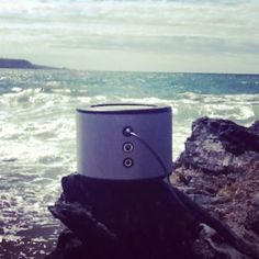 Beach tunes #Minirig #surfsup #beachlife #portablespeaker #nomorecables