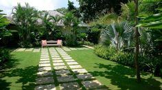 The best Garden land scape ideas with stone and grass designs