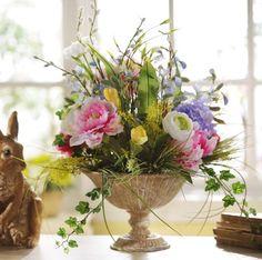Hydrangea & Peony White Floral Arrangement #kirklands #Seasonaldecor #hydrangea #peony #floral