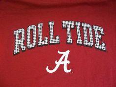 University Of Alabama Houndstooth Roll Tide T-Shirt Adult L Large Bama NCAA #NCAA #AlabamaCrimsonTide