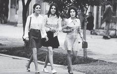 Mulheres em Cabul, no Afeganistão, 1970, antes do domínio Talibã
