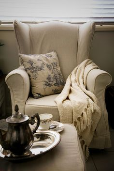Wingback Chair Slipcovers... At long last! | The Whimsical Wife