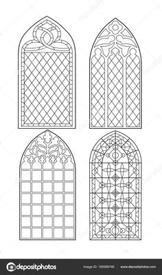 Kirchenfenster Standard-Bild 96441377 The post Stock Photo appeared first on Paper Diy. Colouring Pages, Coloring Books, Gothic Windows, Standard Image, Graphisches Design, Kahlil Gibran, Stained Glass Patterns, Vintage Frames, Art Plastique