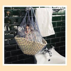 Baby Chêne with some net support via @linneklund #carryingchene Sign up on waiting list now at chenestrandbags@gmail.com