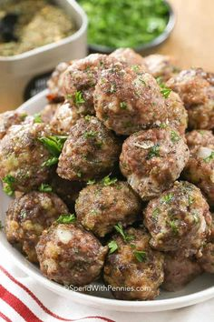 is my all time favorite easy meatball recipe! They're juicy and tender and make the perfect addition to pasta, casseroles or soups! Quick Recipes, Gourmet Recipes, Dinner Recipes, Healthy Recipes, Dinner Dishes, Pasta Casserole, Meatball Recipes, Steak Recipes, Original Recipe