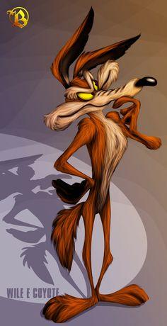 Wile E. Coyote artwork by Dan Joashua.