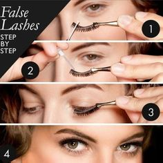Trendy Makeup Tutorial For Beginners False Lashes Fake Eyelashes 60 Ideas False Eyelashes Tips, Eyelashes How To Apply, Applying False Lashes, Thicker Eyelashes, Natural Eyelashes, Fake Lashes, Longer Eyelashes, Mink Eyelashes, Eyelash Tips