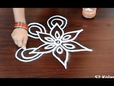 easy rangoli design - freehand kolam designs - easy freehand muggulu for.