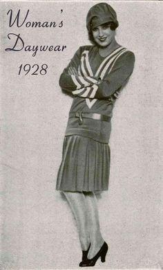 Women's day dress starting from designer Chanel. (1928)