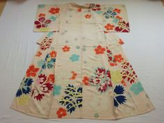 Japanese Antique Kimono Silk Light Pink Flower P072747 | eBay