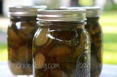 Sweet Cucumber Pickle recipe from Big Mill B and B. These are a true Southern tradition.     #pickles     bigmill.com