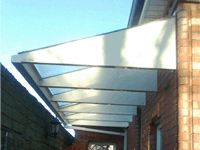 side entrance canopy for clothes line and bikes? & HML Cantilever Entrance Canopy | Canopy / Trellis | Pinterest | Canopy