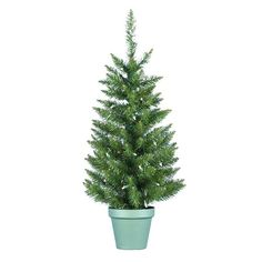 Kurt Adler 36-Inch Pre-Lit Potted Pine Tree